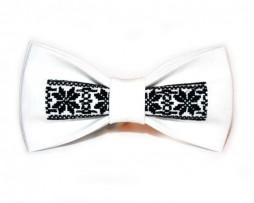 papion-brodat-traditional-alb-negru