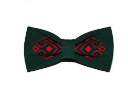 papion-etno-brodat-verde-inchis
