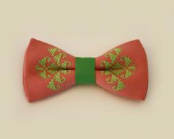 papion-roz-brodat-verde-menta