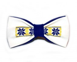 papion-traditional-etno-brodat-albastru